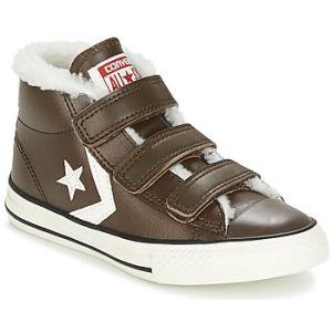 Converse Star Player Ev 3V Mid Hot Cocoa/Egret, Baskets Hautes Mixte Enfant, Braun (Hot Cocoa), 35 EU