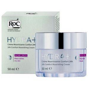 ROC Hydra + - Crème nourrissante confort 24h riche
