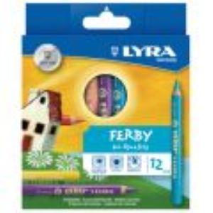 Lyra 980K12 - 12 Crayons de couleur Ferby assorties