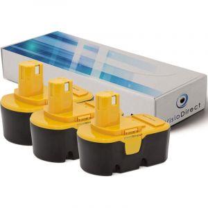 Ryobi Lot de 3 batteries pour MS180 tronçonneuse sans fil 3000mAh 18V