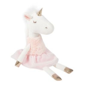 Soft Friends Peluche Licorne robe rose clair 42 cm