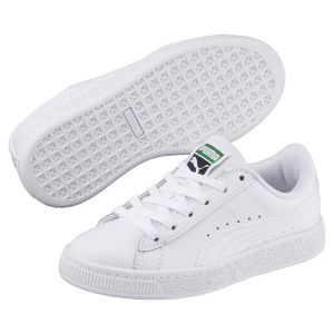 Puma Basket Classic LFS PS, Sneakers Basses Mixte Enfant, Blanc White White, 28 EU