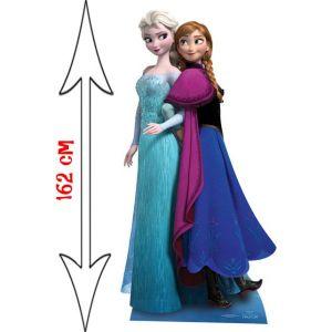 Figurine géante Anna et Elsa La Reine des Neiges (162 cm)