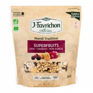 Favrichon Muesli tradition Superfruits Bio 500g