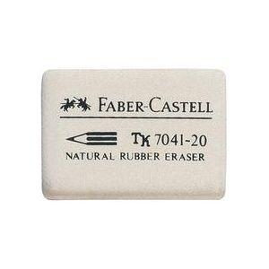 Faber-Castell 184140 - Gomme en caoutchouc 7041-40, blanc
