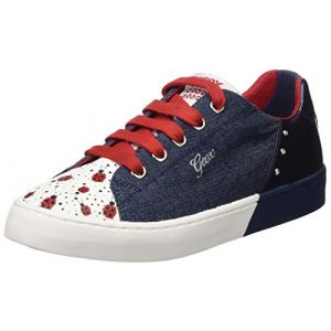 Geox Jr Ciak D, Baskets Basses Fille, Bleu (Jeans/Navy), 33 EU
