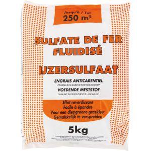 NONA Sulfate de fer fluidisé UAB - 5 kg - 5 kg - Dangereux - Respecter les précautions d'emploi - Engrais contenant un oligo-élément