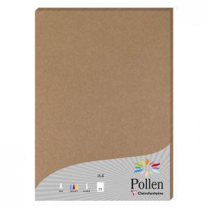 Clairefontaine 29205C Paquet de 25 Feuilles Pollen 21 x 29,7 cm 200 g Kraft Brun