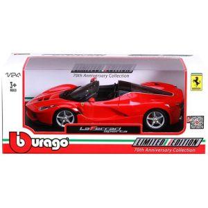 Bburago Voiture Ferrari en métal Aperta Rouge à l'échelle 1/24ème
