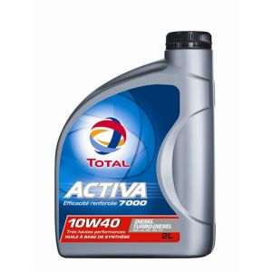 Total Huile moteur Activa 7000 10W40 Diesel 2 L