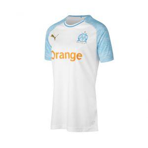 Puma Maillot Domicile Olympique de Marseille Replica pour Femme White-Bleu Azur S