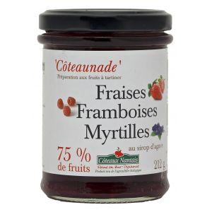 Côteaux nantais Coteaunade Fraises framboises myrtilles Bio 212g