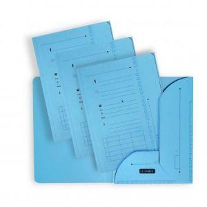 Elba 100330147 - Sous-dossier Ultimate chemise HV 2 rabats, lot de 25, A4 kraft bleu