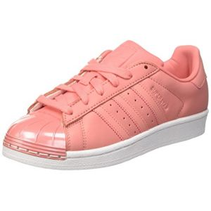Adidas Superstar 80S Metal Toe, Baskets Basses Femme, Tactile Rose/Footwear White, 37 1/3 EU