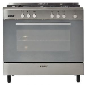 Glem GE960CMIX - Piano de cuisson mixte 5 foyers gaz avec four électrique