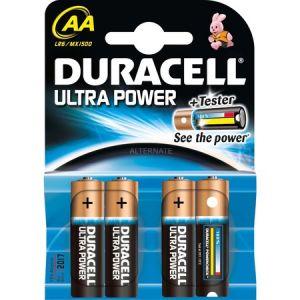 Duracell 4 piles alcalines AA LR06 Ultra Power