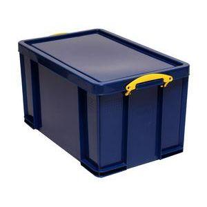 Really useful box 84BCB - Boîte de rangement en plastique 84 litres, en PP recyclé bleu