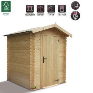 Madeira AB4116 - Abri de jardin Bex en bois 19 mm 3,20 m2