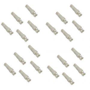 Aerzetix Lot de 20 ampoules T5 à LED lumière blanche - C1846
