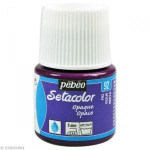 Pebeo Peinture tissu Setacolor - Opaque - Figue - 45 ml