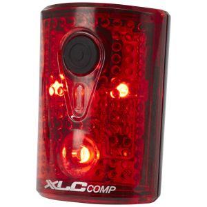 XLC Comp CL-R14 - Éclairage vélo - Pan rouge/noir Lampes arrière