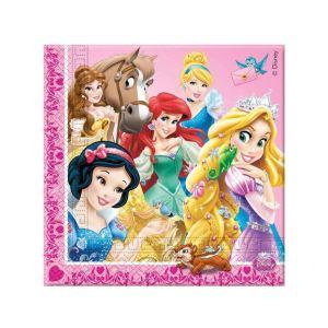20 serviettes Princesses Disney