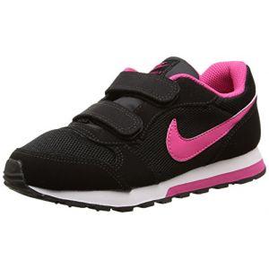 Nike MD Runner 2, Running Fille, Gris, 16 EU, Noir (Black/Vivid Pink/White), 22 EU
