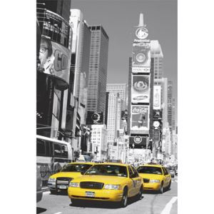 WG Poster mural geant trompe l'oeil Taxis à Times Square New York