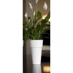 Pot haut rond en plastique Ø14 x 25 cm