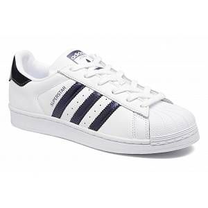 Adidas Superstar, Baskets Femme, Blanc (Footwear White/Purple Night Metallic/Footwear White 0), 38 2/3 EU