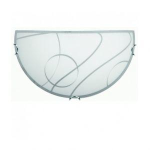 Brilliant AG Demi applique - 30 cm ODINE -1x60W E27 -BLANC/DECOR GRIS - BRILLIANT - 94046_05