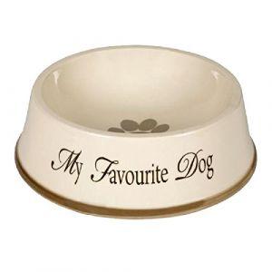 Designed by Lotte My Favourite Dog Céramique Bol Alimentaire Gris 22x8,5 cm/1300ml