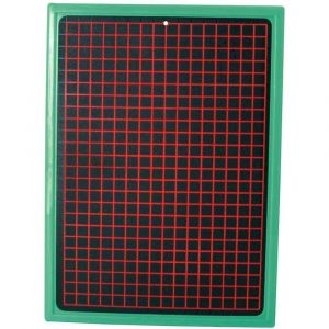 Safetool Ardoise noire - 18,7x27,2 cm - Cadre vert
