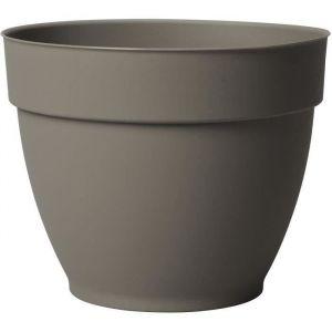 Deroma Pot plastique à réserve d'eau Diam.33.8 x H.27 cm taupe