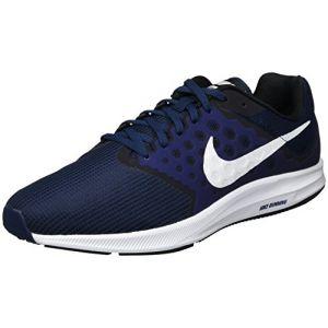 Nike Downshifter 7, Chaussures de Running Homme, Bleu (Mid NVY/WHT-DK Obsdn-Blk), 45.5 EU