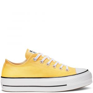 Converse Chaussures CHUCK TAYLOR ALL STAR LIFT SEASONAL COLOR OX jaune - Taille 36,37,38,39,40,41,35,37 1/2,36 1/2,39 1/2