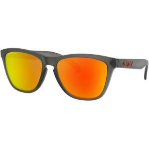 Oakley Frogskins Lunettes de soleil, matte grey/smoke prizm/ruby polarized Lunettes