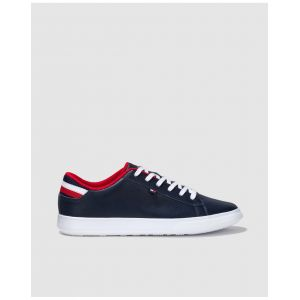 Tommy Hilfiger ESSENTIAL LEATHER DETAIL CUPSOLE - Baskets Homme, Bleu