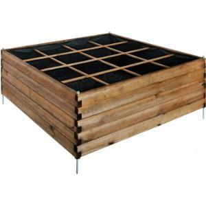Jardipolys 0101017 - Carré potager Estragon 120 en pin 126 x 126 x 60 cm
