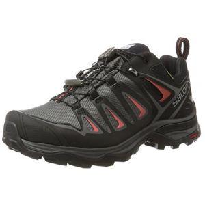 Salomon X Ultra 3 GTX W, Chaussures de Randonnée Basses Femme, Multicolore (Magnet/Black/Mineral Red), 36 2/3 EU