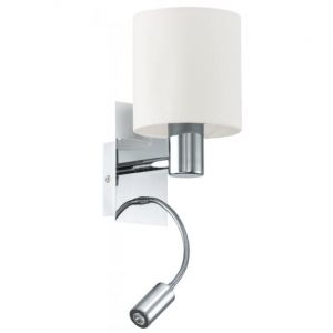 Wellindal Led Chrome S`appliquent Textile Et Beige Halva