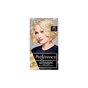 L'Oréal Preference Les Blondissimes 03 Lightest Ash Blonde Hair Dye