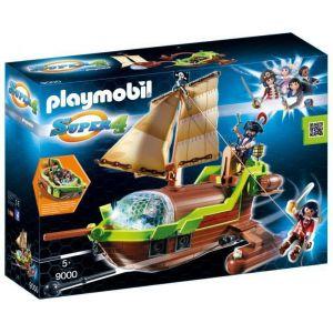 Playmobil 9000 Super4 - Bateau pirate Caméléon avec Ruby