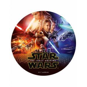 Disque en sucre Star Wars VII 20 cm