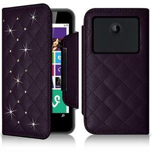 Karylax Etui Portefeuille Universel S Style Diamant violet pour Konrow Coolsmart