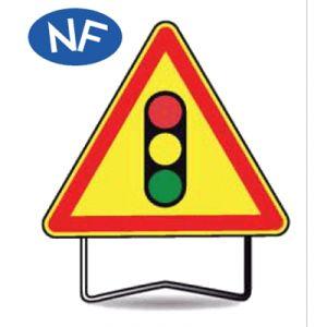 Taliaplast 522406 - Panneau signalisation danger feux tricolores ak17 t1 700mm