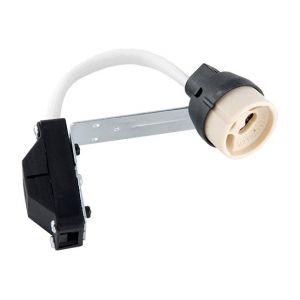 Lampesecoenergie Lot de 10 Douilles GU10 Complète Avec Raccord Protégé, Pour Ampoules Halogene et Led