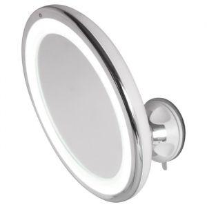 Hestec AIC - International 23464 Miroir Grossissant LED Tactile Plastique/ABS/Polystyrène Argenté 19.5 x 7.5 x 19.5 cm
