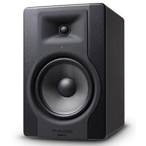 M-Audio BX8 D3 - Moniteur de Studio 150 W Pro 2 Voies avec Woofer 8 Pouces pour Production Musicale avec Acoustique Space Control Intégré - Noir