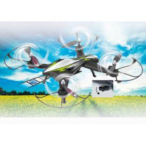 Jamara Drone radiocommandé F1X AHP 2,4GHz avec système d'altimètre et caméra HD 720p